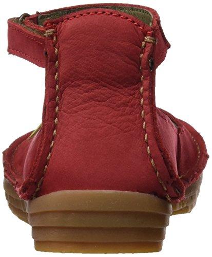 Rojo con Nf87 Naturalista para Pulsera El Sandalia Mujer Tibet t0wgB