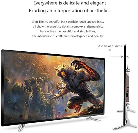 YILANJUN 32/42/46/55/60-Inch 4K Smart TV LCD HD Internet Television with Wall Mount and Base, Explosion-Proof High-Definition Eye Protection Blue-ray, Wi-Fi, for Kitchen Bedroom 51ZX03NDjbL