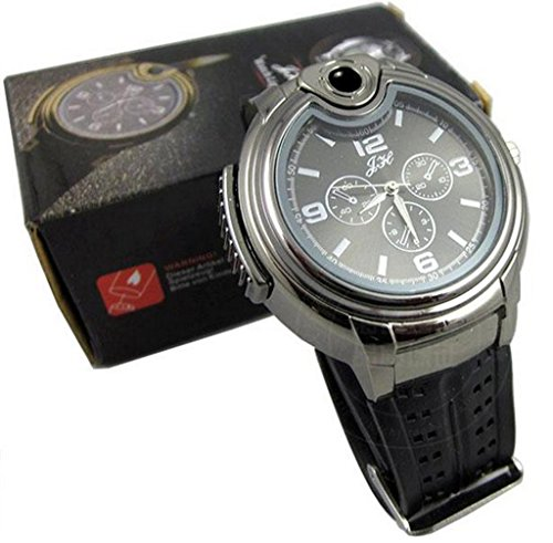 Findtime Novelty Refillable Butane Cigarette Cigar Lighter Watch