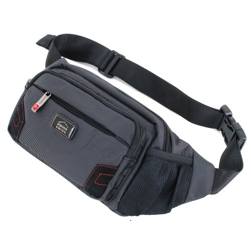 Alpine Swiss Fanny Pack Waist Bag 5 Pockets Secure Travel Case W Adjustable Belt