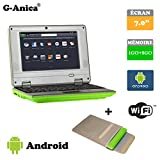 Netbook Laptop Android 4.2 HDMI écr.7 (Wifi-SD-MMC) 1GB RAM + 8GB ROM+ Laptop bag(Green)