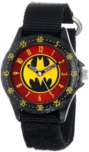 Batman Kids' BAT5036 Time-Teaching Batman Watch with Black Canvas Band