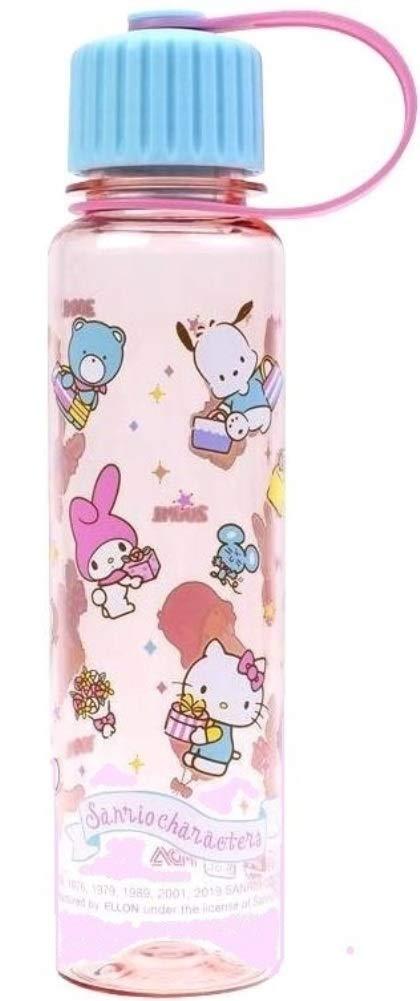 Ellon Hello Kitty etc Mix Characters BPA & BPS Free Tritan Water Bottle Narrow Mouth Mug Hello Kitty My Melody Pochacco Tuxedo Sam Cinnamoroll