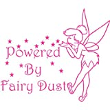 Indoor//Outdoor Tinkerbell Style Fairy Car Sticker Powered by Fairy Dust