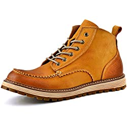 Men's Boots Short-Boots High-Top Leather Lace-Up Simple Approach-hiking Mountaineering Outdoor Shoes Casual HXZ-ZS16011