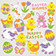Autocollants de Pâques en mousse que les enfants pourront utiliser pour décorer les cartes et loisirs créatifs (Lot de 120)