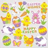 Adesivi pasquali in schiuma per decorare biglietti e per le creazioni fai da te dei bambini (confezione da 120)