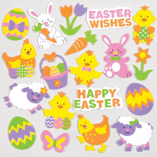Easter crafts for kids amazon easter foam stickers for children to decorate and embellish cards collages scrapbooking other crafts projects m4hsunfo