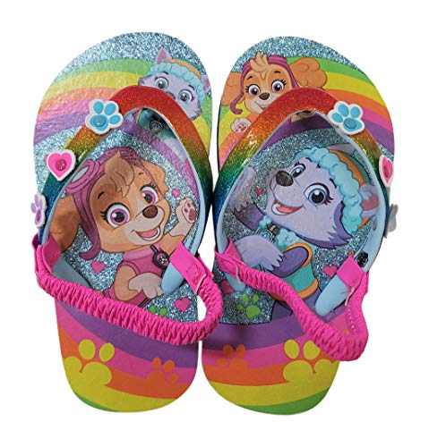 - Paw Patrol Girls Flip-Flop Sandals (11-12, Rainbow)