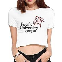 Pacific University Short Sleeve Sport Women's T Shirts Leisure Girls