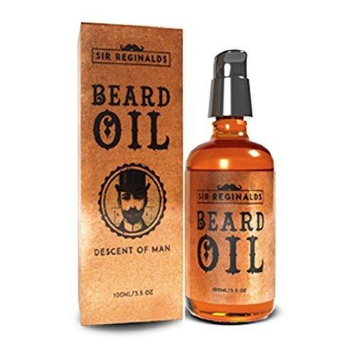 Sir Reginalds Beard Oil - Beard Conditioning Oil- Descent of Man Collection- A Beard Softener and Deep Conditioner for Men Huge 100ml 3.5oz