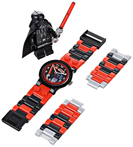 LEGO-Star-Wars-Darth-Vader-9002908-Reloj-de-cuarzo-para-nios-correa-de-plstico-colores-surtidos