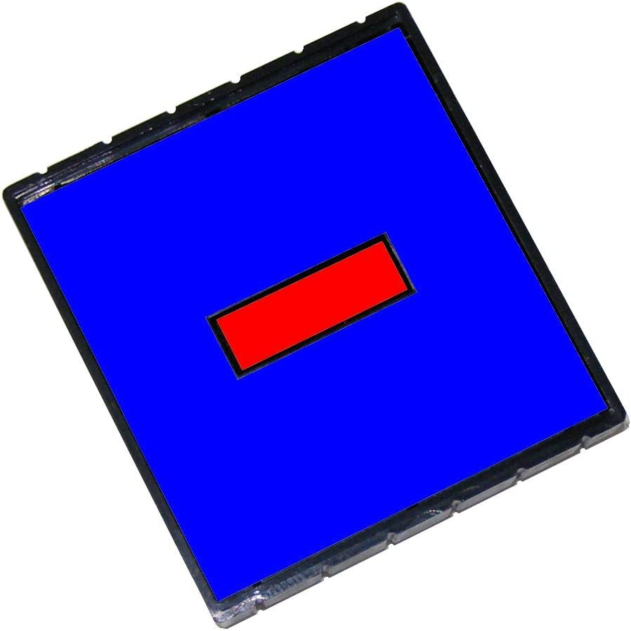 2 Color Blue//Red Q43 Replacement Pad for the 2000 Plus Q43 and Q43 Dater Self-Inking Stamp