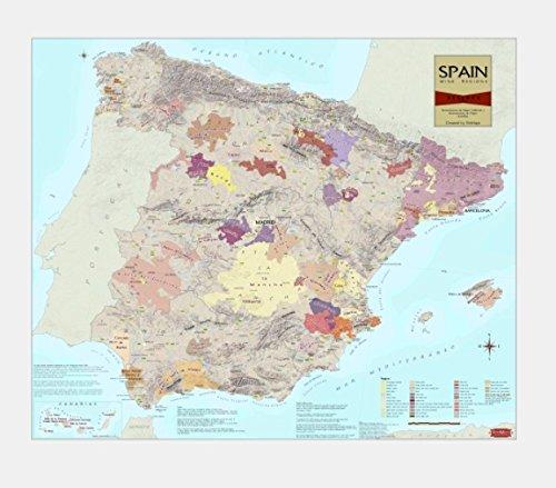 Spain : wine regions [30x36] (Wine Region Map)