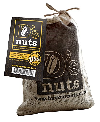 D's Nuts Buy Our Nuts to Save Yours in Shell Lightly Salted Ballpark Style Peanuts, 12 oz. (Peanuts Shell Salted)