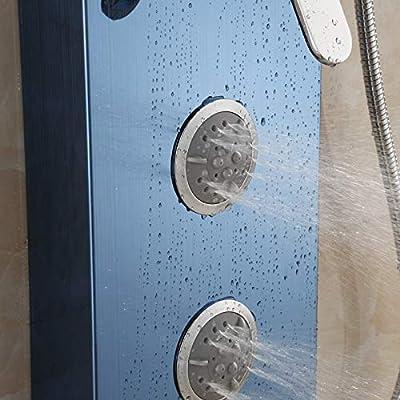 Hlluya Grifo Cocina Lavabo de Baño Mampara de Ducha de Acero Inoxidable 304 Kit de Ducha de mampara de Ducha Lluvia taps los rociadores, b: Amazon.es: Hogar