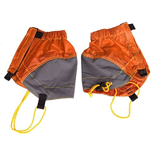 NUOLUX Pair of Outdoor Waterproof Ankle Walking Gaiters Hiking (Orange)