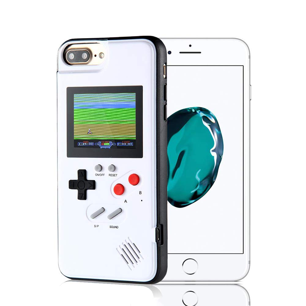 Womdee Game Console iPhone Case, Handheld Game Console Case Cover with 36 Games Phone Case (iPhone 6p/7p/8p, White)