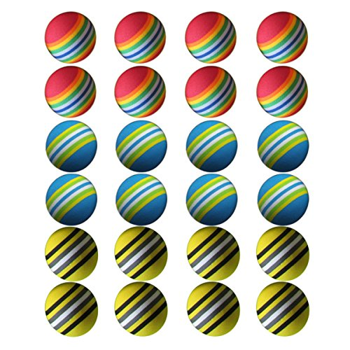 (SHUYUE Colorful Soft Foam Rainbow Play Balls For Pet Dog and Cat (24pcs))
