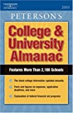 College and University Almanac 2005, Peterson's Guides Staff, 0768913888
