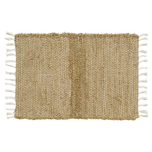 Natural Hemp Rug - VHC Brands 15057 Burlap Natural Chindi/Rag Rug, 2'3