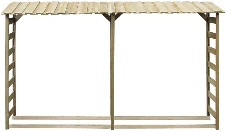 guyifuzhuangs Caseta para leña 300x44x176 cm Madera de Pino impregnada FSCCasa y jardín Accesorios para hornos de leña y chimeneas Bolsas y Soportes de leña: Amazon.es: Hogar