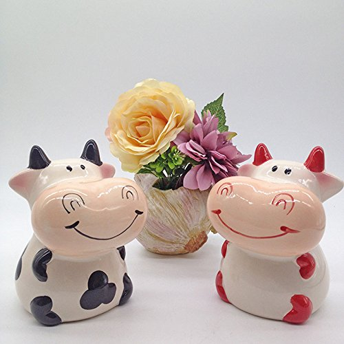 Zching Cute Cow Ceramic Piggy Bank Personalized Money