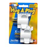 Hug-A-Plug Grounded Right Angle Adapter Plug - Twin