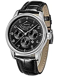 Sapphire Glass 42mm Parnis Black Dial Silver Pointer Power Reserve 26 Jewels Miyota 9100 Automatic Movement Men's...