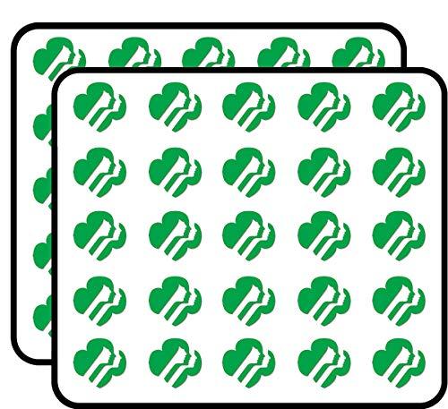 Green Girl Scouts Faces Logo Shaped (Emblem USA Scouting) Sticker for Scrapbooking, Calendars, Arts, Kids DIY Crafts, Album, Bullet Journals
