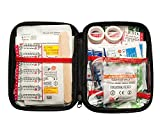First Aid Kit Complete Kit: Hard Shell 125-Piece for Office, Home, School, Emergency, Survival, Camping, Hunting, Travel, Car or Automotive and Sports