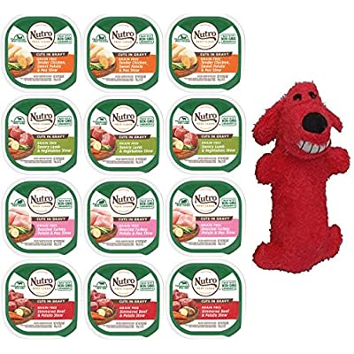 NUTRO Canned Small Breed Wet Dog Food Adult & Puppy, (3) Chicken Entree, (3) Roast Turkey/Vegetable, (3) Lamb/Vegetable, (3) Beef/Potato Stew, 3.5 Oz Each (12 Total)