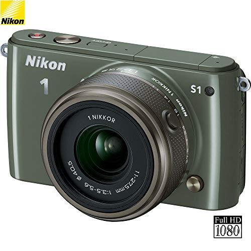 Nikon 1 S1 Mirrorless Digital Camera w/ 11-27.5mm Lens (Khaki) 27621B (Renewed)