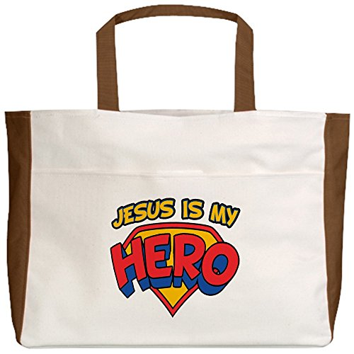 Royal Lion Beach Tote (2-Sided) Jesus Is My Hero - Mocha by Royal Lion