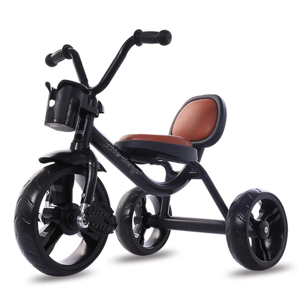 precios bajos todos los dias JINHH Triciclos para Bebes, Infantil 3 Ruedas Pedal Trike, PU PU PU Seat Asiento Regulable Estructura Tubular de Metal - para Edades 1-5 Años, negro  ahorra hasta un 70%