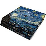 Starry Night Full Faceplates Skin Decal Wrap with 2 Piece Lightbar Decals for Playstation 4 Pro