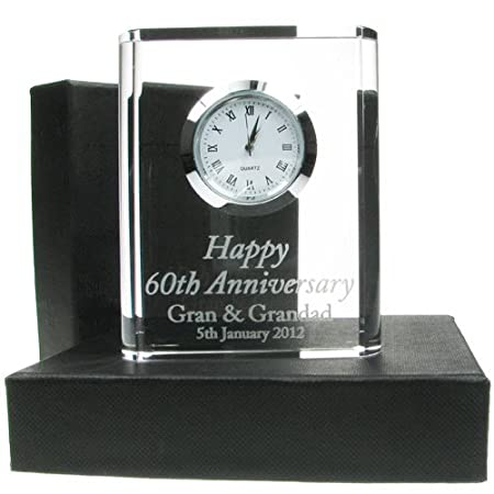 60th Wedding Anniversary Gift Engraved 60th Wedding Anniversary
