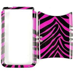 Rocker Series Snap-On for HTC One X - Pink Zebra Skin