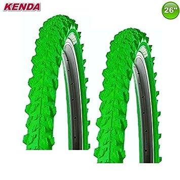 Kenda MTB Neumático de la Bicicleta Cubierta - Color Verde - 26 X ...