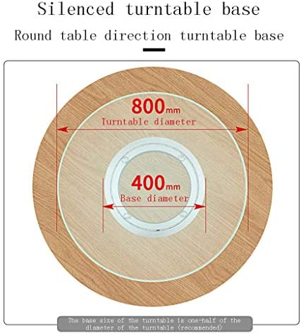 Glass turntable Gqq Base per Giradischi Susan pigra, Nucleo in Lega di Alluminio Rotante, Diametro del Tavolo in Vetro per Uso Domestico con Piatto Rotante silenziatore