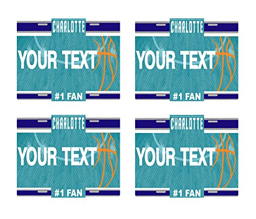 - BRGiftShop Customize Your Own Basketball Team Charlotte Set of 4 Square Beverage Coasters