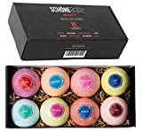 Schöne NAUGHTY Romantic Large Bath Bombs Gift Set - 8 - A Must for Any Romantic Bath, Flirt with Your Senses, Go to a Place of Passion and wild Desire, Softer Skin, Multilayered Color and Scent