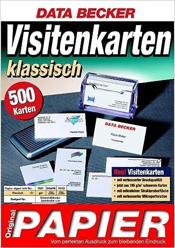 Data Becker Original Papier Visitenkarten Klassisch