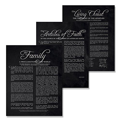 11x14 LDS Prints - Set of 3 Mormon Art Posters//Family Proclamation//The Living Christ//The Articles of Faith//Lds Presents For Women Men//Wedding//Anniversary//Housewarming//Home (Proclamation To The World On The Family)