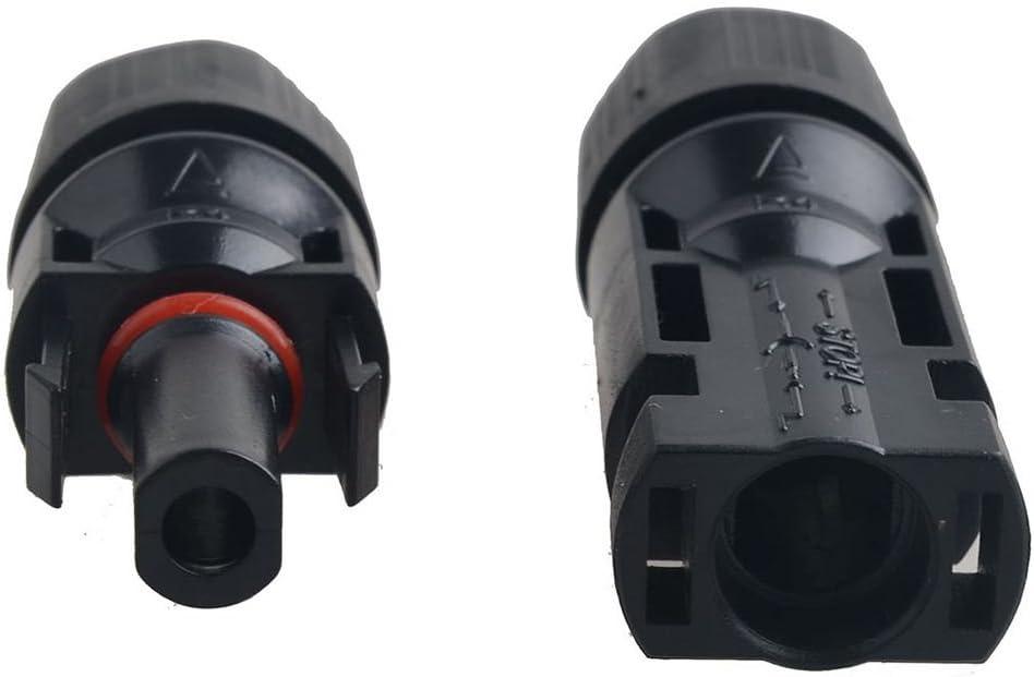 Andifany 5 paires MC4 males//femelles panneaux solaires cables connecteurs doubles Anneaux detancheite pour un meilleur effet etanche