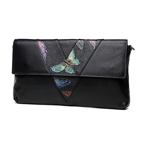 Butterfly Bag Package Dinner Aristocratic Butterfly Leather Bag Bag Hand Color Handbags Capacity Large Hand FEEqwHOWT1