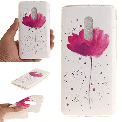 Hozor Souple Protection Note 4X En Silicone Antichoc Scratch Slim Transparent Bord Fit flower Xiaomi Cas De Arrière Motif Peint Couverture Téléphone TPU Redmi De Cas Résistant rBqxr8