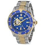Invicta Men's 13706 Grand Diver Automatic Blue Textured Dial Two Tone Stainless Steel Watch