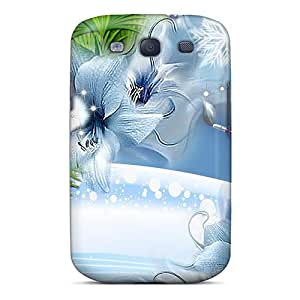 Galaxy S3 Case Cover - Slim Fit Tpu Protector Shock Absorbent Case (painting Winter Blue)