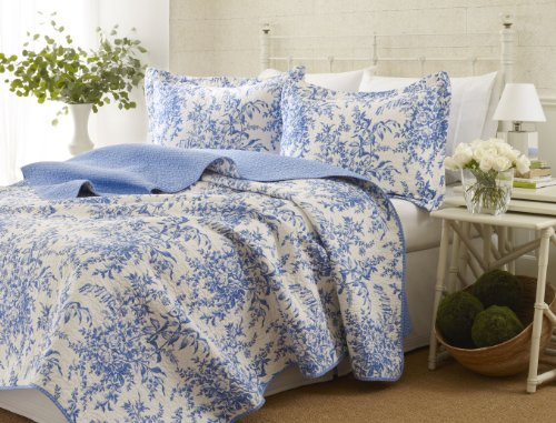 Laura Ashley Bedford Cotton Reversible Quilt Set, King by Laura Ashley